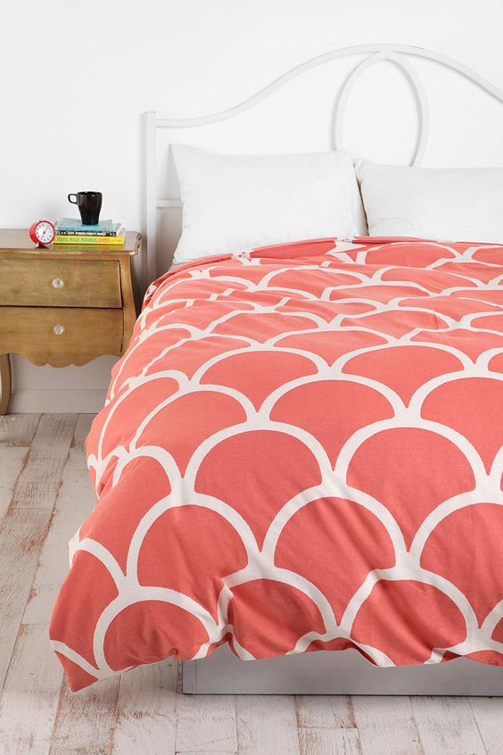 UrbanOutfitters.com > Stamped Scallop Duvet Cover for London