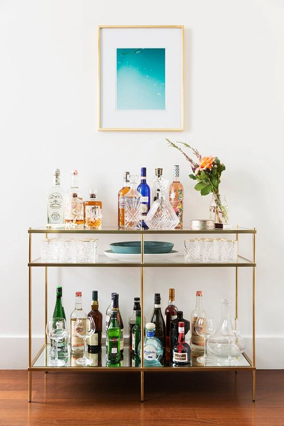 Literally Just 29 of the Prettiest Bar Carts We've Ever Seen | StyleCaster