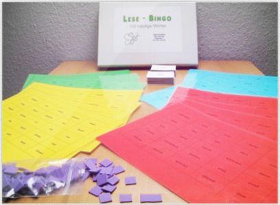 Lesebingo Mit diesem Lese-Bingo übt man das schnelle Erfassen der 100 häufigsten Wörter der deutschen Sprache. Ziel dieses Spiels ist es, den Kindern einen spielerischen Umgang mit häufig verwendeten Wörtern zu ermöglichen. Diese Wörter können dann schneller im Text erfasst werden, so können die Lesegeschwindigkeit und auch das flüssige Lesen gefördert werden.