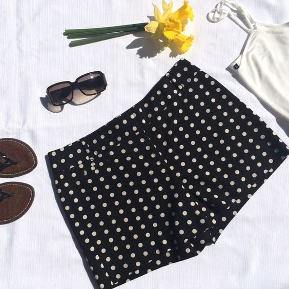 """Loft Marisa Polka Dot Shorts Loft Marisa polka dot shorts. I bought the wrong size and never got around to returning them, though I did remove the tags. 16"""" waist/99% Cotton/1% Spandex. I adore polka dots, so I'm naturally biased -- these are the cutest shorts ever!  LOFT Shorts"""