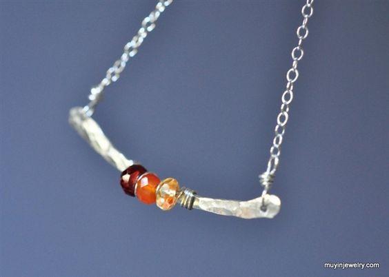 BRIDGE - Design Your Own birthstone necklace,