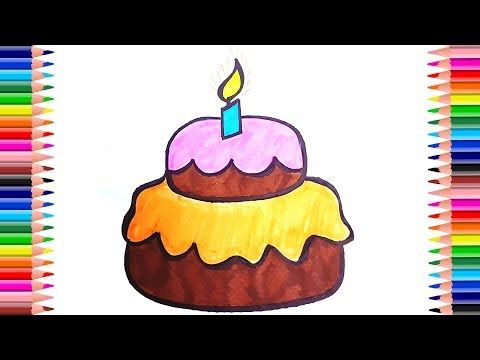 How To Draw Cake And Coloring Preschool Learning Videos For Kids To Learn Yourtube S Youtube Preschool Learning Learning Colors Coloring Books