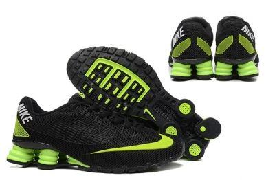 Nike Shox Turbo 21 KPU Men Shoes Sneakers Total Black Flu Green