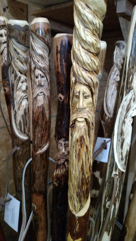 This wood Spirit walking stick is looking for a good home.