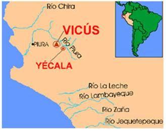 Cultura Vicus : Vicús aparece como el centro de interacción entre las culturas antiguas de Perú y Ecuador, ya que su uso del color es parecido al de algunos estilos ecuatorianos, y sus ceramios se parecen a los ceramios del Moche temprano.