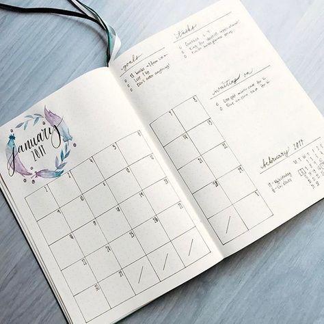 Idée de page mensuelle calendrier