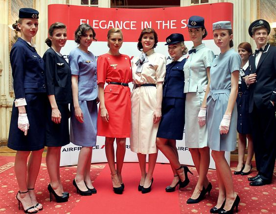 WEARING THE BALENCIAGA VINTAGE UNIFORM FOR AIR FRANCE
