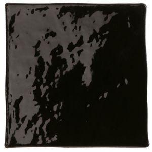 Carrelage mural manises negro brillant 13x13 - Comptoir du Cérame