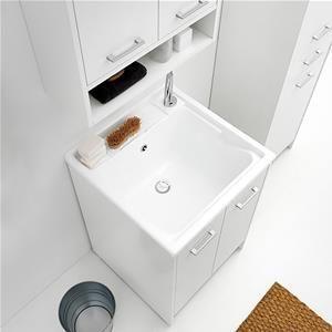 Lavapanni Domestica Colavene Tela Bianco 60x60x86h Due Ante Con