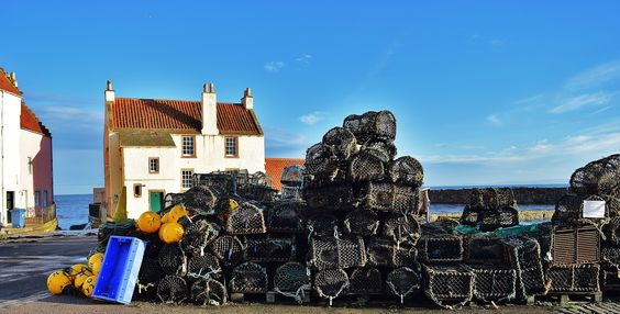 Higgledy piggledy creels at Pittenweem Harbour!