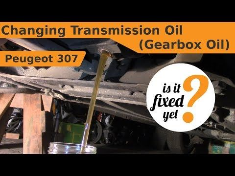 Changing Transmission Oil Gearbox Oil Peugeot 307 Youtube Peugeot Oils Transmission
