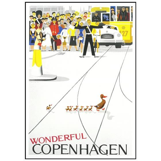 Dansk Nostalgi Plakat Med Ramme 70 X 105 X 1 5 Cm Kob Online Ilva Dk Plakater Grafisk Plakat Ramme