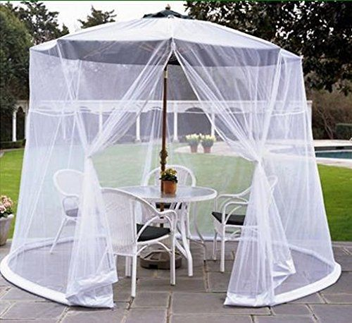 Ssfolding Outdoor Terrace Patio Umbrella Nets Mosquito Net Cover Dimensions For Table 2742742 Patio Table Umbrella Mosquito Netting Patio Patio Umbrella Covers
