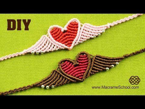 Flying Heart Bracelet Tutorial - YouTube