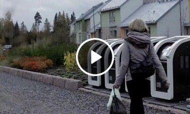 Lata de lixo eletronica na Finlândia.