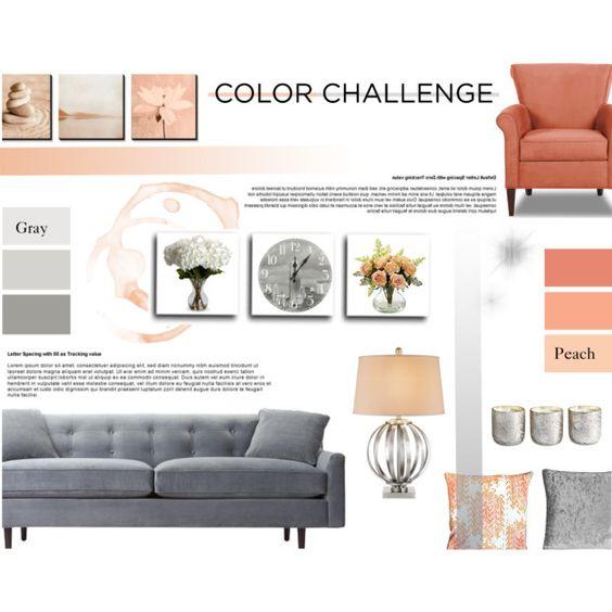 Color Challenge: Gray & Peach