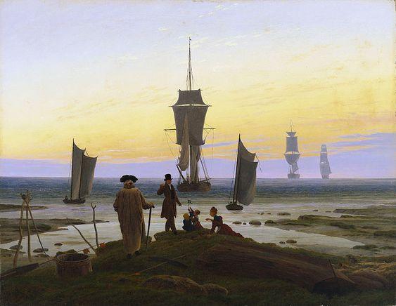 Caspar David Friedrich - Las tres edades (Die Lebensstufen); también Las edades de la vida