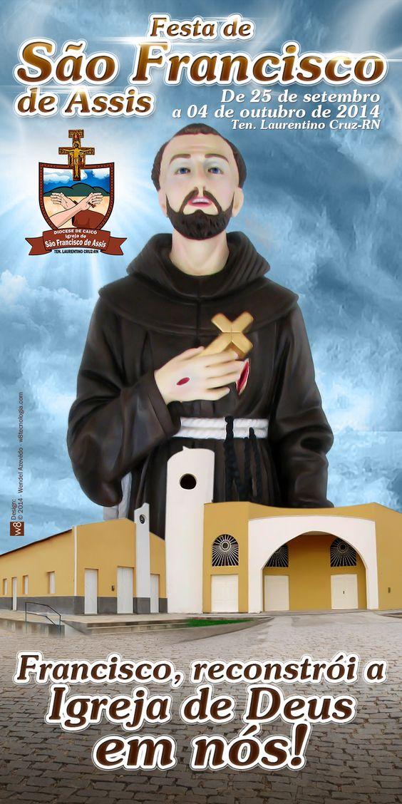 Sugestão de capa da Festa de São Francisco de Assis - 2014 - Ten. Laurentino Cruz-RN