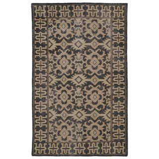 Hand-Knotted Vintage Replica Chocolate Brown Wool Rug (8'0 x 10'0) - Overstock™ Shopping - Great Deals on 7x9 - 10x14 Rugs $693