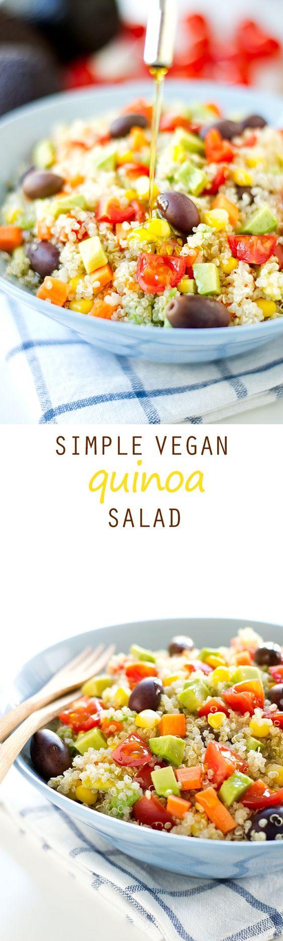 Simple Vegan Quinoa Salad | Recipe | Quinoa Salad, Quinoa and Vegans
