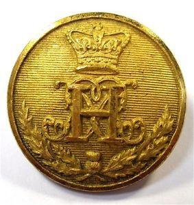 Original Gilt Victorian Button. 42nd Royal Highlanders