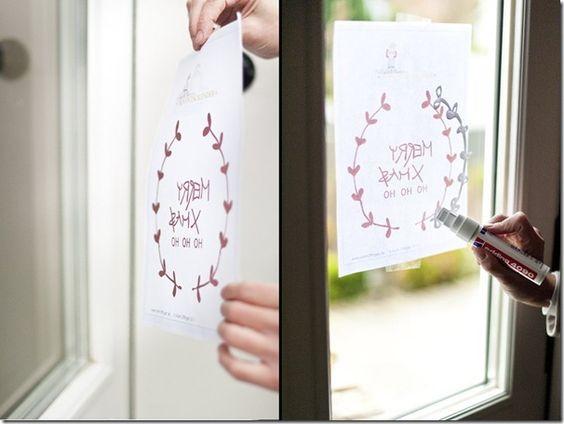 Window painting for dummies like me ... (Fenstermalerei für Trottel wie mich ...)