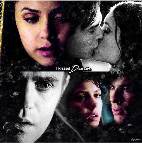 """#TVD The Vampire Diaries  Elena & Stefan/ Elena & Damon  """"I kissed Damon"""""""