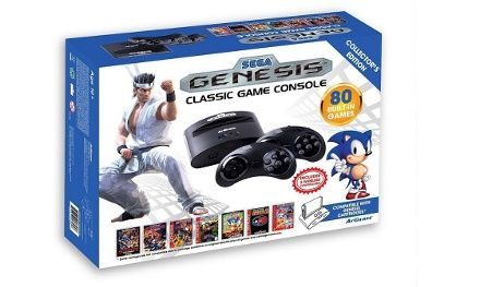 Retro console with 40 built-in Sega Genesis games lets players relive the system's glory days