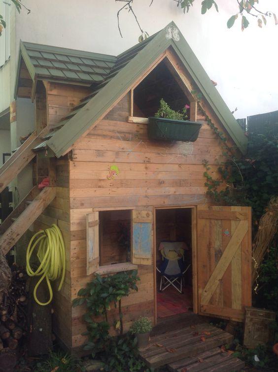Cabane enfant en palettes avec étage Instructions de