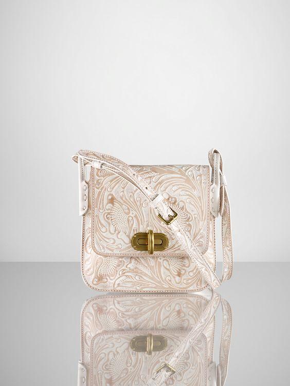 Tooled Small Cross-Body - Ralph Lauren Handbags  Handbags - RalphLauren.com