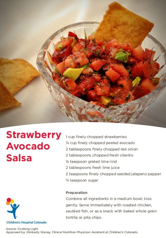 A healthy, quick recipe for Strawberry Avocado Salsa from Cooking Light using fresh ingredients!