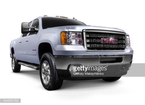 Stock Photo : 2012 GMC Sierra 2500HD General Motors pickup truck. Isolated on…