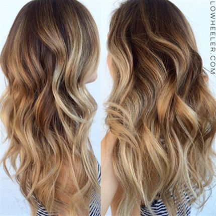 Balayage str nde and farbe on pinterest - Balayage caramel blond ...