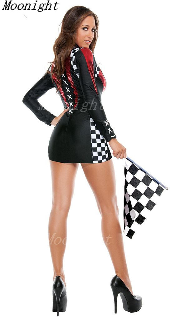 Race Car Flag Girl Costumes