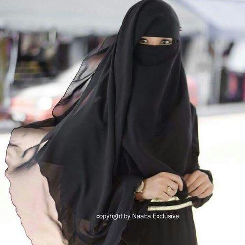 Long Beautiful Flowing Niqab
