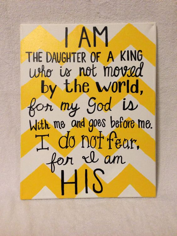 Hey, I found this really awesome Etsy listing at https://www.etsy.com/listing/175355318/i-am-the-daughter-of-a-king-canvas