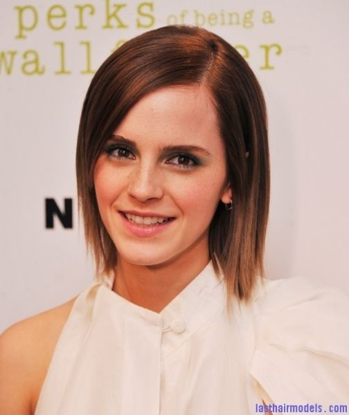 Rebonded Short Hairstyles Hairstyle For Short Rebonded Hair New Fashionable Hair Emma Watson Hair Straight Hairstyles Short Straight Haircut