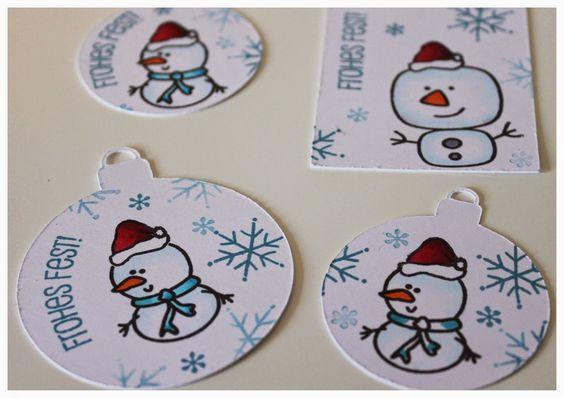 herzundschere.blogspot.de, Tags, Christmas, Geschenkanhänger für Weihnachten