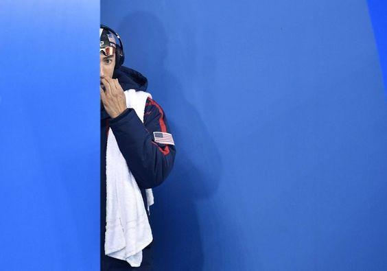 8.8.2016: 200 Meter Halbfinal im Delfinschwimmen. Michael Phelps betritt die…