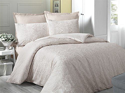 Dose Of Modern Cappuccino Cream Satin Single Quilt Cover Set Eu It 121vct13455 Cream Comforter Sets Quilted Duvet Cover Quilt Cover Sets