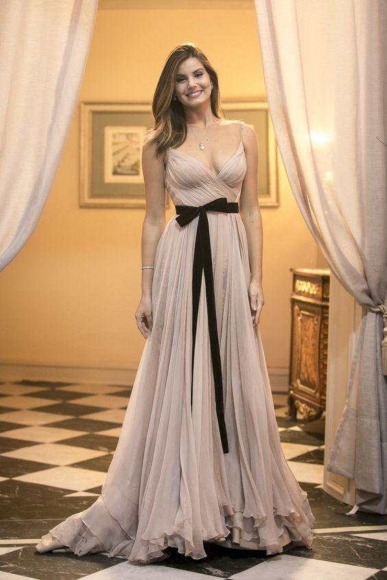 vestidos simples longos