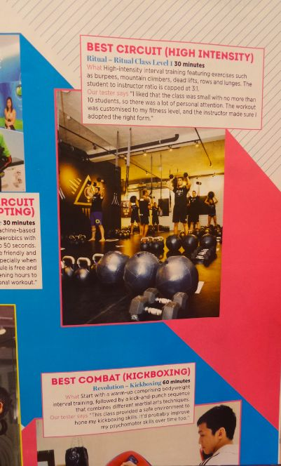 "Ritual wins Shape Magazine ""Best Circuit HIgh Intensity Gym"""