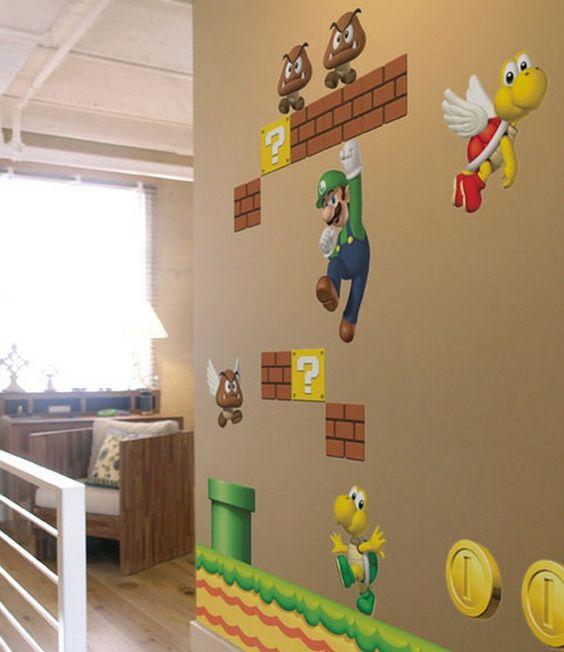 Nintendo Donkey Kong Super Mario Bros Wall Decal Super