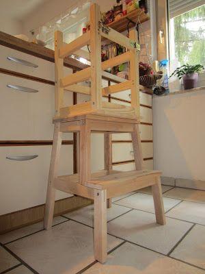 learning tower nach montessori via ikea hack wohnen pinterest montessori learning and. Black Bedroom Furniture Sets. Home Design Ideas