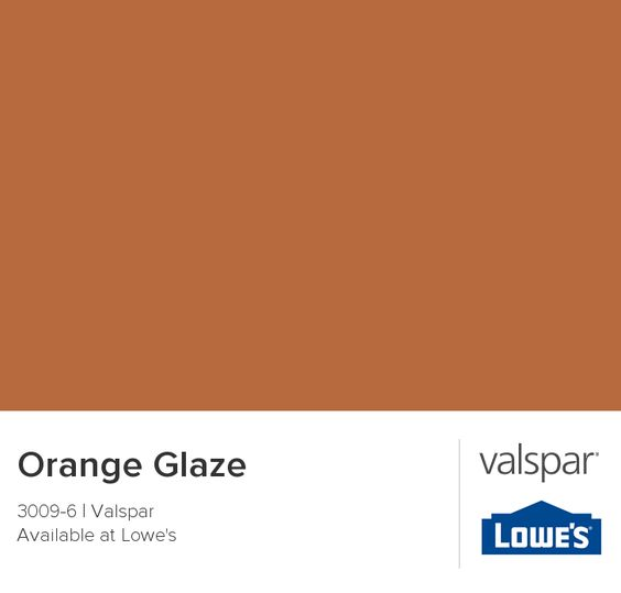 color palette for kitchen orange glaze from valspar home sweet home 5550