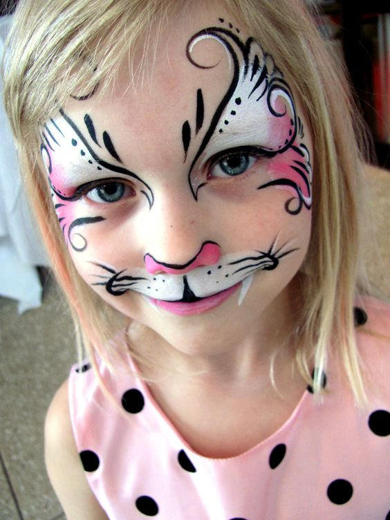 Fancy kitty face painting ... Love to verify artist name...www.sillyfarm.com: