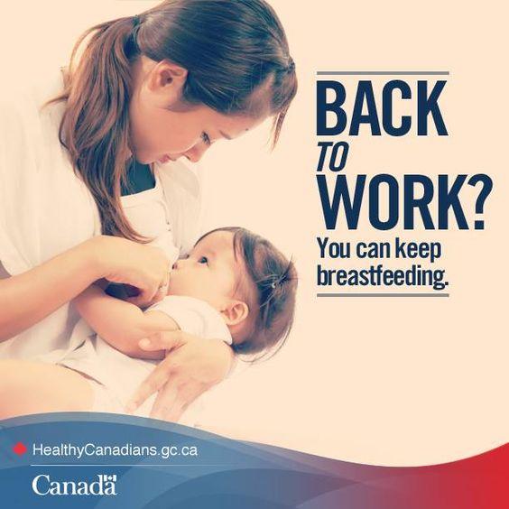 La reprise du travail n'est pas synonyme de sevrage. #allaitement_au_travail
