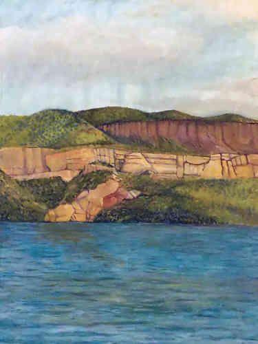 """Sacré Bleu Canyon Lake, 30X40"""", 2015, Oil on Canvas"""