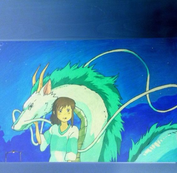 Spirited away drawing inversion of the inverted drawing