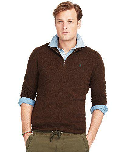 POLO RALPH LAUREN Polo Ralph Lauren Men'S Big & Tall Merino Wool Half Zip Sweater. #poloralphlauren #cloth #